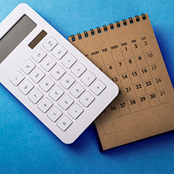 Calculator and calendar